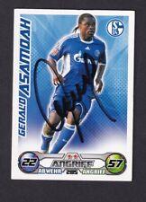 Gerald Asamoah .. Schalke  04 .. Signierte Match Attax  Sammelkarte