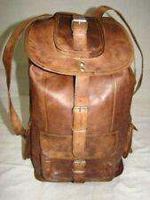 """16"""" Gents Vintage Leather Laptop Backpack Shoulder Messenger Bag Sling Rucksack"""