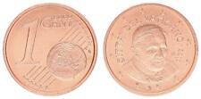 Vatikan 1 Cent 2010 Kursmünze mit Papstmotiv prägefrisch 39341