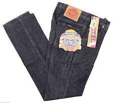 NEW VTG 90s DICKIES Branders JEANS Boys Black 12 Slim Fit Zip Fly Deadstock NOS