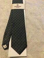 VTG Givenchy Monsieur Nassco Blue with Gold print  Men's Tie New