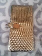 VTG Gold Metallic Plastic Snap Wallet Whiting & Davis Style GUC