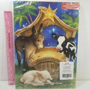 Chocolate Advent Countdown Calendar Peace Nativity - Pop a Door a Day - exp 8-21