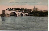 CPA 84  AVIGNON  (vaucluse)   le pont saint benezet et le palais des papes