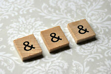 Wooden scrabble tile & ampersand symbol for your scrapbooking craft, etc!