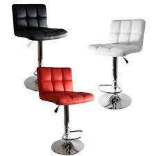 Cuban PU Leather Breakfast Kitchen Barstool Bar Stool Adjustable Chair UK BS5852