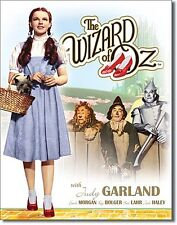 Wizard of Oz Dorothy / Toto (Cuadros Azul Vestido) Letrero Metal (de)