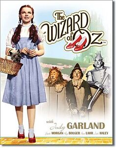 Wizard of Oz Dorothy/Toto (blue gingham dress) metal sign 410mm x 320mm (sf)