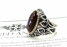 Men's Designer Custom Sultan's Ring With Black  Diamonds by Sacred Angels