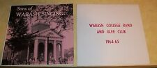 SONS OF WABASH COLLEGE BAND GLEE CLUB 33 LP RECORD ALBUM CRAWFORDSVILLE INDIANA