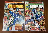 Marvel Comic Inhumans 9  & 10 Newsstand Editions Black Bolt Medusa