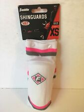Franklin Sports Sock'r Shinguards X-small - White/pink/gray