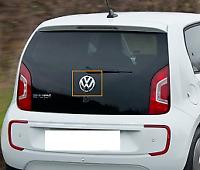 New Genuine Volkswagen E-Up Rear Chrome Black 'VW' Emblem Badge 1S6853630FXC OEM