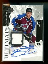2018-19 UD Ultimate Joe Sakic PERFORMERS JERSEY AUTO AUTOGRAPH 25/25 AVALANCHE
