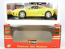 Bburago Burago 3368 Ferrari 360 Modena 1999 jaune En parfait état, dans sa boîte 1/18 neuf dans sa boîte SG 1407-01-63