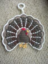 Turkey pot holder. Handmade. New. Crocheted. Unique.