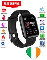 Smartwatch Bluetooth Armbanduhr Sport Schrittzähler für Android iOS Handy
