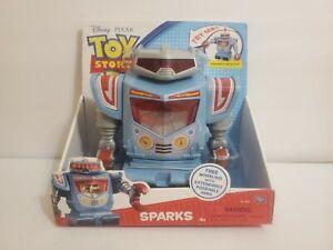 "Toy Story 3 Sparks Robot Large 8"" Figure Disney Pixar Thinkway RARE"