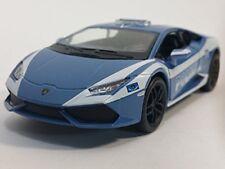 "5"" Kinsmart Lamborghini Huracan LP610-4 Police Diecast Model Car 1:36 Polizia"
