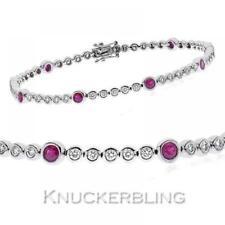 Tennis Ruby White Gold Fine Bracelets