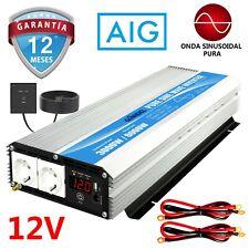 Inversor de energía de onda sinusoidal pura 3000W DC 12V a AC 220V 230V GIANDEL