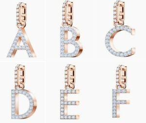 Swarovski Rose-gold tone plated Remix Collection Charm Letters