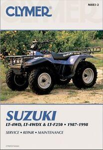 1987-1998 Suzuki LT LTF 250 King Quad Runner QuadRunner ATV CLYMER REPAIR MANUAL