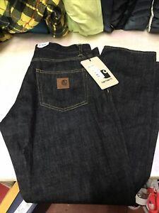 Carhartt Wip Klondike Regular tapered fit  Pant Blue Rinsed Jeans Worldwide