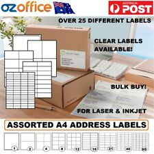 ASSORTED Address Labels A4 Sheet Adhesive Mailing Packing Shipping Stickers Roll