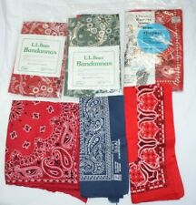 NEW Lot of 15 bandanas vintage made in USA Color Fast Big Mac Penneys LL Bean +