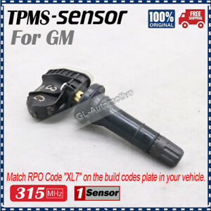New 1Pcs Tire Pressure Sensor TPMS for GM Chevy GMC Buick 13516164 315MHz