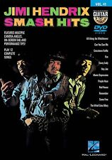Jimi Hendrix Smash Hits Guitar Play Along 12 Songs! DVD NEW!