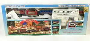 New Bright Dickensville Collectables Christmas Train Set Musical Train Station