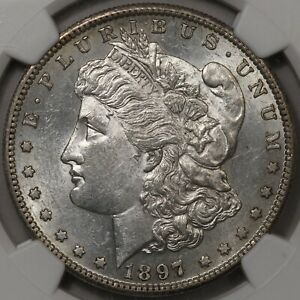 1897-S Morgan Dollar NGC AU-58 - Very Flashy AU!
