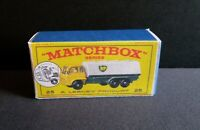 Matchbox Lesney No 25 Bedford BP Petrol Tanker Reproduction Box (Box only)