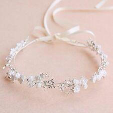 Bridesmaid Bridal Flower White Vintage Style Hair Piece Tiara Vine