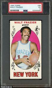 1969 Topps Basketball #98 Walt Frazier Knicks RC Rookie HOF PSA 5 EX