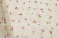Cosmo Romantic Memories Tiny Pink Rose Pin Dot Ivory Japanese Fabric By The Yard