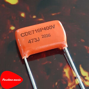 Sprague CDE 716P Orange Drop Guitar Capacitor .047 uF