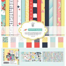 Fancy Pants Designs Happy Place Collection 12 x 12 Kit Scrapbook Paper 2575
