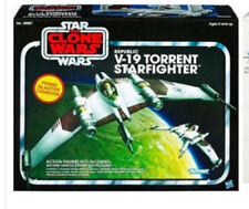 """STAR WARS Vintage style V TORRENT FIGHTER vehicle ship for 4"""" toy figures"""