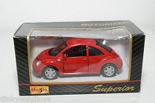 MAISTO SUPERIOR VW VOLKSWAGEN NEW BEETLE KAFER RED MINT BOXED