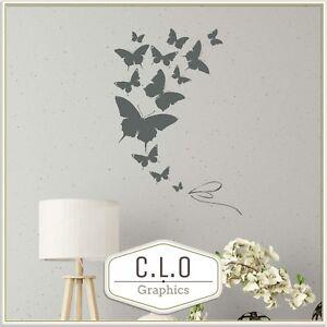 Butterfly Wall Sticker Vinyl Transfer Decal Butterflies Art Decor Girls Graphic