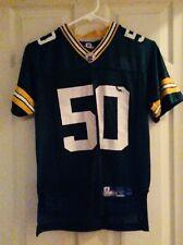 AJ HAWK #50 Green Bay Packers Reebok Green Jersey Size Youth Medium
