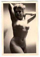 #702 RÖSSLER AKTFOTO / NUDE WOMAN STUDY * Vintage 1950s Studio Photo - no PC !