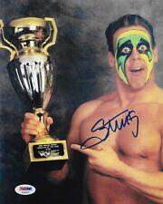 STING WCW WWE TNA SIGNED AUTOGRAPH 8X10 PHOTO W/ PROOF PSA DNA COA