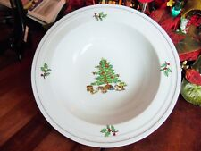 1 New Other(old stock) Christmas Holiday Hostess Round Vegetable Serving Bowl