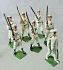 Vintage Britains Ltd. Lead Soldiers - Lot of 7 Marching Sailor Soldiers  - Lot D