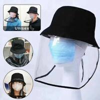 Anti-Virus Outdoor Anti Speichel Kappe Gesichtsschutz Transparent Masken Hut