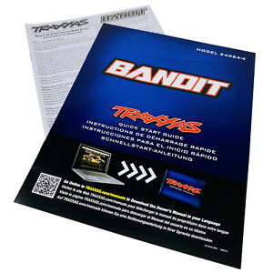 Traxxas Bandit XL-5 Model 24054-4 Quick Start Guide Manual Pack New